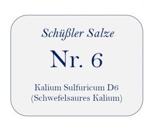 Nr.6 Kalium Sulfuricum D6 100g