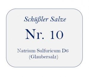 Nr.10 Natrium Sulfuricum D6 100g