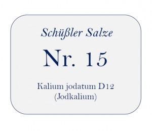 Nr.15 Kalium jodatum D12 100g