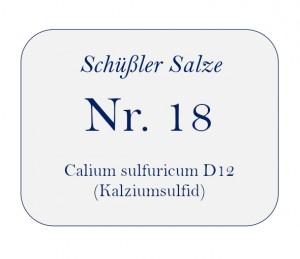 Nr.18 Calcium sulfuratum D12 100g