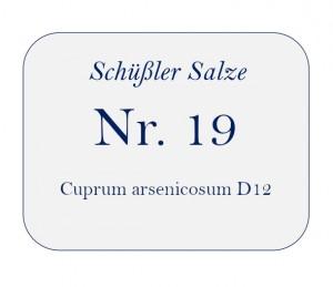 Nr.19 Cuprum arsenicosum D12 100g