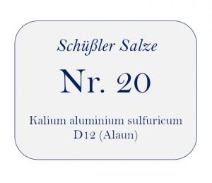 Nr.20 Kalium aluminium sulfuricum D12 100g