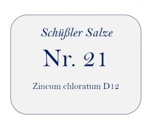 Nr.21 Zincum chloratum D12 100g