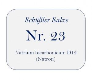 Nr.23 Natrium bicarbonicum D12 100g
