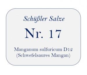 Nr.17 Manganum sulfuricum D12 250g