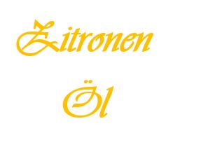 Zitronenöl 10 ML