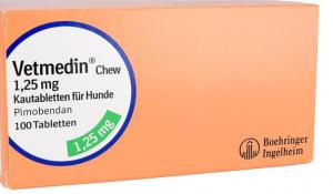 Vetmedin Chew 1,25 mg Kautabletten für Hunde 100 STK