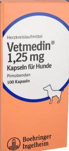Vetmedin 1,25 mg - Kapseln für Hunde 100 STK